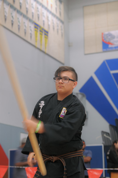 Fabian competing at the 2016 WKSA Pacific Tournament, Folsom, CA.  April 16, 2016.