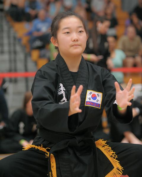 Natalie competes at the 2016 WKSA Pacific Tournament, Folsom, CA.  April 16, 2016.