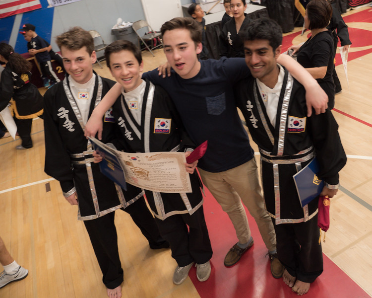 Menlo Park Kuk Sool Won team competing at the 2016 WKSA Pacific Tournament, Folsom, CA.  April 16, 2016.