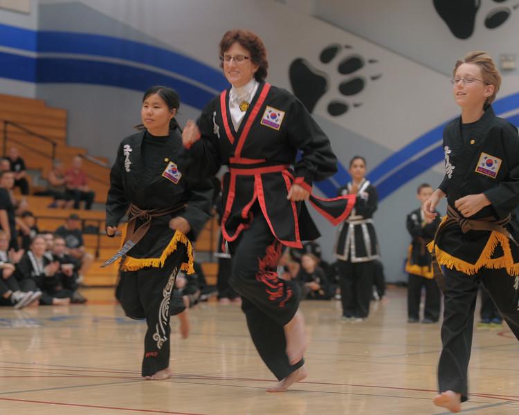 Elizabeth and Gabe get promoted to black belt at the 2016 WKSA Pacific Tournament, Folsom, CA.  April 16, 2016.