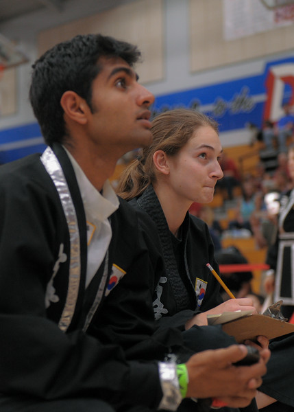 Lexie and Nishant at the 2016 WKSA Pacific Tournament, Folsom, CA.  April 16, 2016.