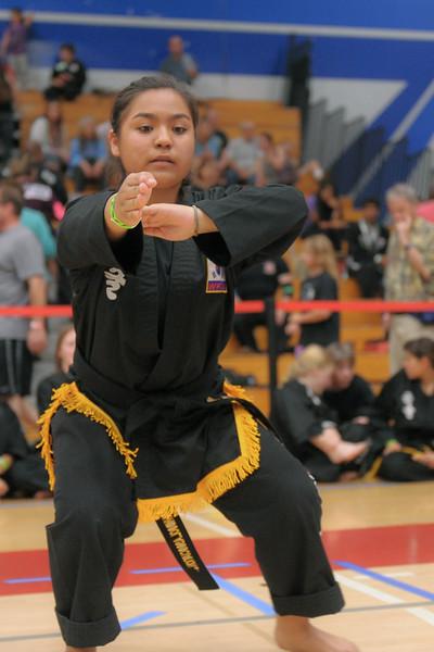 Esvede competes at the 2016 WKSA Pacific Tournament, Folsom, CA.  April 16, 2016.