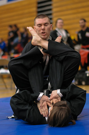 Second Dahn competing and judging at the Kuk Sool Won Pacific Coast Tournament, Folsom, CA.  2014-04-05