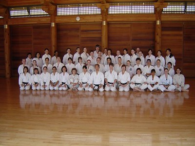 Women practice with Sensei Ohshima