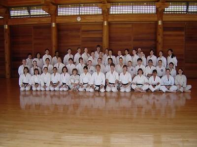 Women practice with Sensei Ohshima