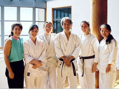 From Left to right:  Catherine, Siobhan, Christine, Sensei Ohshima, Ariel, Hellen