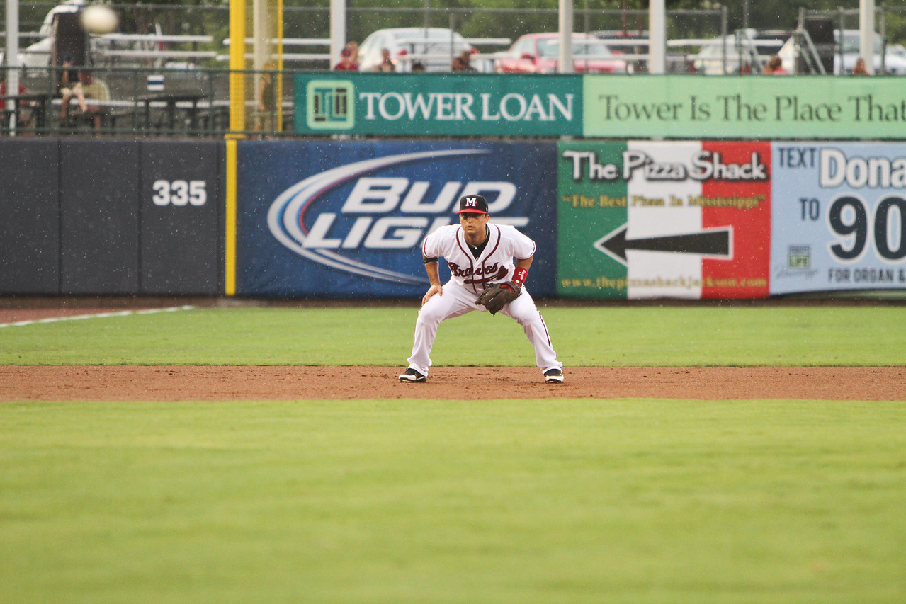Martin Prado playing in Mississippi during his rehab