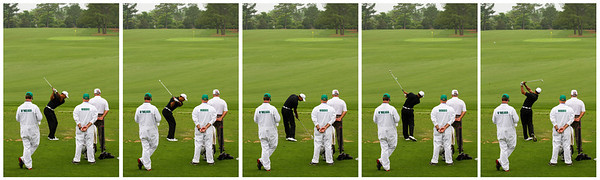 Tiger Woods Swing Sequence - Range 2012 Masters