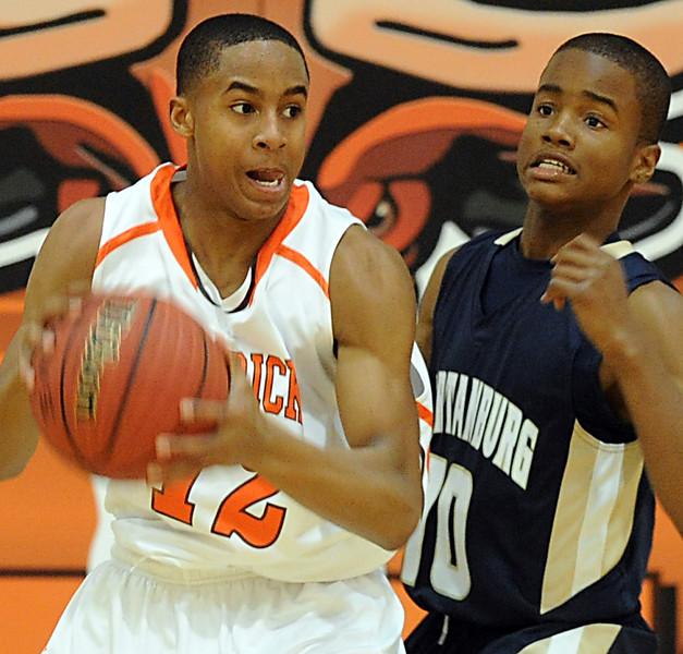 The Mauldin Mavericks played host to the Spartanburg Vikings in a Region 2-AAAA basketball game.<br /> GWINN DAVIS PHOTOS<br /> gwinndavisphotos.com (website)<br /> (864) 915-0411 (cell)<br /> gwinndavis@gmail.com  (e-mail) <br /> Gwinn Davis (FaceBook)
