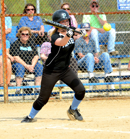 Cumberland's Mariah Huddlestun squares to bunt a pitch during the Class 1A Cumberland Regional against Danville Schlarman.