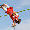 St. Anthony's Sam Wortman skies over the bar in the pole vault at the Class 1A Newton Sectional.