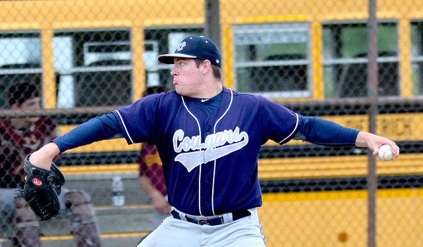 South Central starting pitcher Tyler Ross gears up for a pitch against Dieterich in the Cougars' 12-2 win.