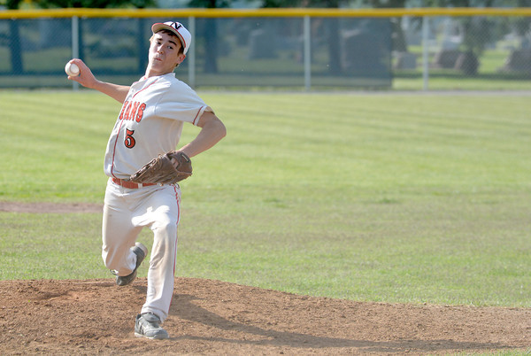 Neoga pitcher Matt Kingery pitches during extra innings in a 2-1 win over Central A&M at the Class 1A Windsor Regional.