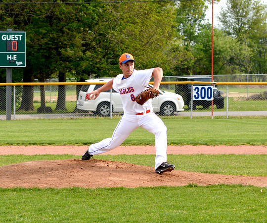 Newton pitcher Tanner Shull winds up and prepares to throw a pitch during the first inning of the Eagles' win over South Central.
