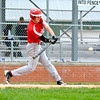 Effingham's Lane Koenig takes a swing at an incoming pitch during the Flaming Hearts' loss to Windsor/Stew-Stras.