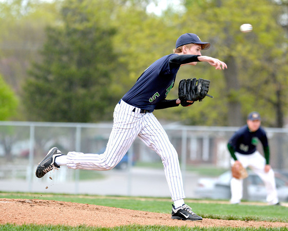 Windsor/Stew-Stras' Mark Jones releases a pitch during the Blue Devils' 5-3 win over Effingham.