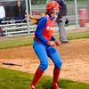 St. Anthony's Kate Richards celebrates scoring the game-winning run in a 12-11, 10-inning win over Effingham in game one of the City Series. Game two was postponed due to rain.