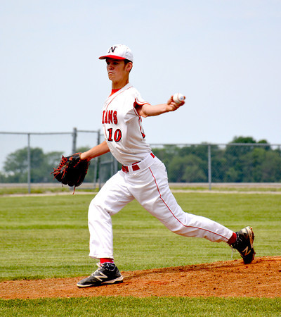 Neoga's Guy Walk delivers a pitch toward home plate during the Indians' 1-0 loss to Windsor/Stew-Stras at the Class 1A Windsor Regional final.