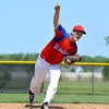 St. Anthony's Scott Rentfrow pitches in relief during a 12-11 win over Newton.