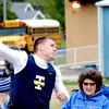 Teutopolis' Ted Jansen releases the shot put at the Eagle Invite.