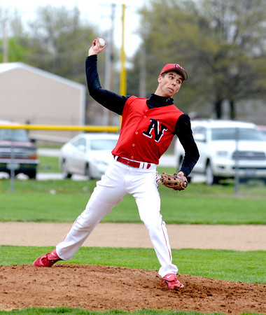 Neoga pitcher Trevor Moore delivers during the first inning against Teutopolis.