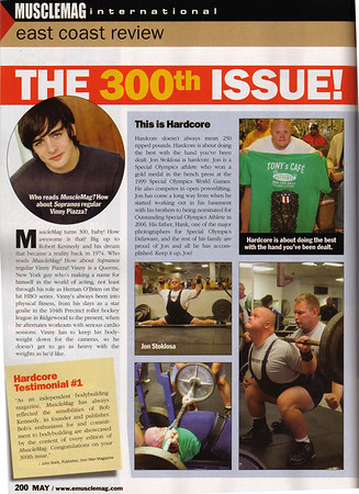 May 2007 - Muscle Magazine - Jon Stoklosa