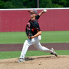 North Clay pitcher Brandon Repking fires a pitch during the Class 1A SIU Super-Sectional.