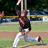 North Clay's Collin Warren pitches during the Class 1A North Clay Sectional semifinal against Oblong.