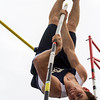 Teutopolis junior Andrew McWhorter gets vertical during a pole vault attempt at the Class 1A state track finals in Charleston. McWhorter would finish fifth after clearing 14-03, which also set a new school record.