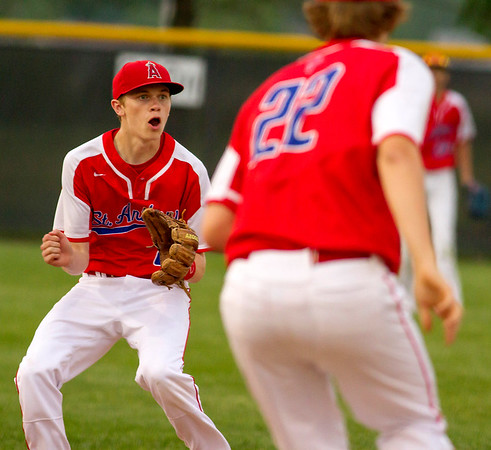 St. Anthony shortstop Colin Koester prepares to field a hit during game two of the 36th Annual City Series.