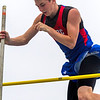 Cowden-Herrick/Beecher City's Keegan Martin clears 11-06 during the pole vault event at the IHSA Class 1A State Track and Field Preliminaries in Charleston.