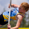 Cumberland's Elise Hemmen attempts to clear the bar during the pole vault at the IHSA Class 1A State Track Meet Preliminaries in Charleston.