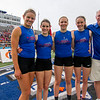 The St. Anthony girls' state final qualifiers pose one last time as a team at the IHSA Class 1A State meet in Charleston.