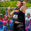 Altamont's Nate Brown releases his discus during the IHSA State Track and Field Finals in Charleston. Brown threw for a personal best of 153-10 and finished 6th in Class 1A.