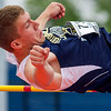 Teutopolis' Devin Mette clears the bar at 5-11 during the high jump at the  IHSA Class 1A State Track and Field Preliminaries in Charleston.
