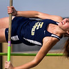 Teutopolis' Micah McWhorter clears the bar during the pole vault at the Class 1A Newton Sectional. She finished second after clearing a height of 9 feet, 9 inches.