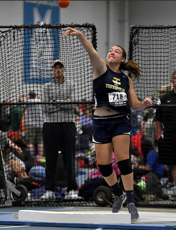 Teutopolis' Claire Bushur throws the shot put in the shot put during the Class 1A IHSA State Track finals at Eastern Illinois University.<br /> Chet Piotrowski Jr./Piotrowski Studios