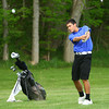 5-6-13<br /> Boys Golf Northwestern HS vs Cass HS<br /> Blaine Brutus from Northwestern HS<br /> Second hit on 3rd hole but fell just short of the green.<br /> KT photo | Tim Bath