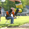 5-7-13<br /> MIC track and field<br /> Eastern's Cole Grant jumping.<br /> KT photo | Tim Bath