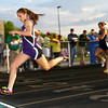 5-7-13<br /> MIC track and field<br /> Northwestern's Kaitlyn Daanen winning the 100 meter dash.<br /> KT photo | Tim Bath