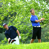 5-6-13<br /> Boys Golf Northwestern HS vs Cass HS<br /> Blaine Brutus from Northwestern HS<br /> Teeing off the 4th with David Watterson from Cass watching.<br /> KT photo | Tim Bath