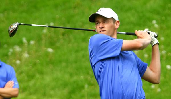 5-6-13<br /> Boys Golf Northwestern HS vs Cass HS<br /> Nathan Edwards from Northwestern HS<br /> Teeing off the 3rd green.<br /> KT photo | Tim Bath
