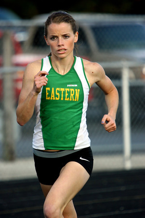 5-7-13<br /> MIC track and field<br /> Bethany Neeley running and winning the 1600 meter run<br /> KT photo | Tim Bath