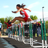 5-7-13<br /> MIC track and field<br /> Maconaqua's Keeana Walton taking the lead in the prelims of the 100 meter hurdle.<br /> KT photo | Tim Bath