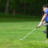 5-6-13<br /> Boys Golf Northwestern HS vs Cass HS<br /> Blaine Brutus from Northwestern HS<br /> Chipping onto the 3rd green.<br /> KT photo | Tim Bath