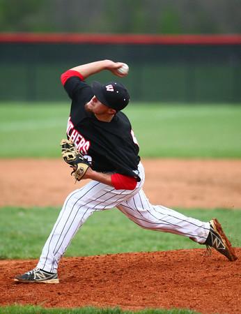 4-29-14<br /> Western vs. Taylor baseball<br /> Western's pitcher Evan Warden<br /> Kelly Lafferty   Kokomo Tribune