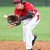 4-29-14<br /> Western vs. Taylor baseball<br /> Taylor's Austin Douglas catches the ball for an out.<br /> Kelly Lafferty | Kokomo Tribune