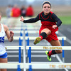 4-30-14<br /> Taylor track & field<br /> Cassidy Morgan in the 100 M hurdles<br /> Kelly Lafferty | Kokomo Tribune