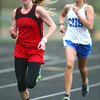4-30-14<br /> Taylor track & field<br /> Cami Hansen in the 800 M run.<br /> Kelly Lafferty | Kokomo Tribune