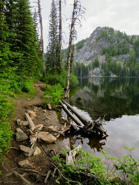 Looming climb across the lake.